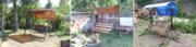 Садовые разборные качели в Слониме